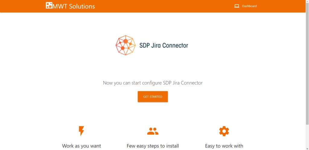 Zarządzanie ServiceDesk Plus Jira Connector odbywa się przezintuicyjny interfejs webowy