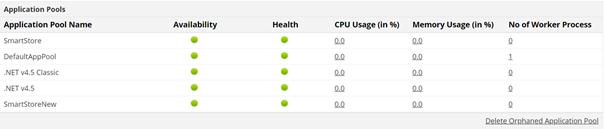 Monitorowanie usługi IIS zApplications Manager