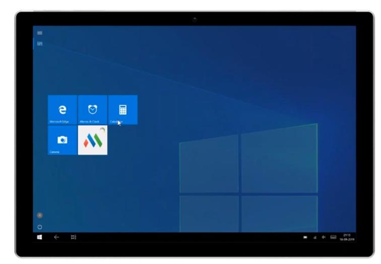 Screen pulpitu zwybranymi funkcjonalnościami Mobile Device Manager Plus