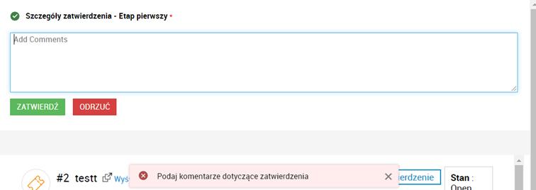 Akceptacja zgłoszeń wServiceDesk Plus