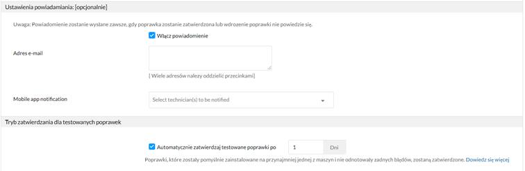 Automatyczne zatwierdzanie testowanych poprawek