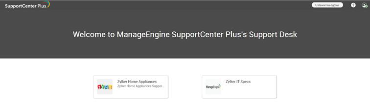 system obsługi zgłoszeń SupportCenter Plus