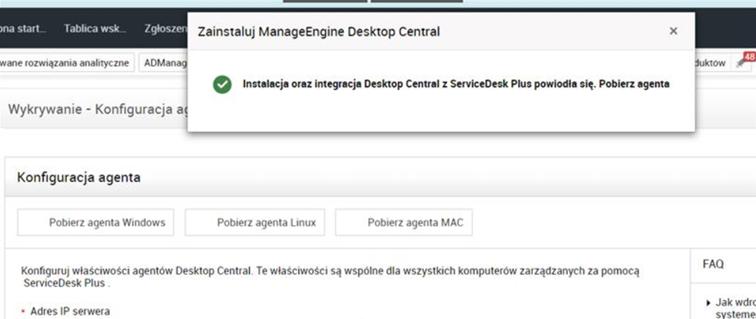 Skanowanie zasobów wServiceDesk Plus 11300